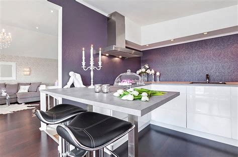 purple kitchen backsplash kitchen wallpaper ideas wall decor that sticks
