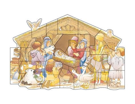 printable nativity puzzle printable advent calendar advent pinterest