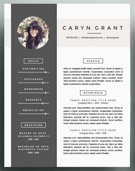beautiful resume templates to take into 2016 community