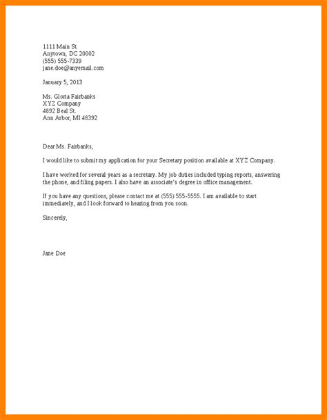 Basic Cover Letter Template Free by 12 Basic Cover Letter Template Apply Letter
