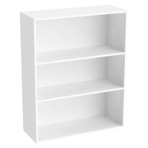etagere 40 x 80 caisson spaceo home 100 x 80 x 30 cm blanc leroy merlin