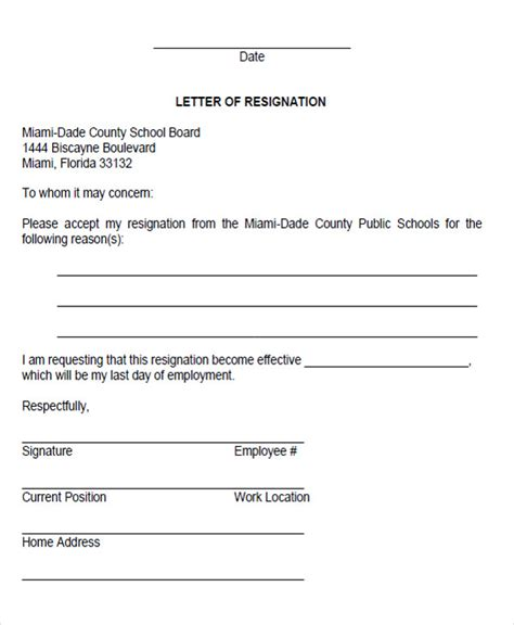 Resignation Letter To School Board 65 Sle Resignation Letters