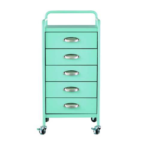 5 drawer organizer cart home decorators collection steel 5 drawer cart in matte