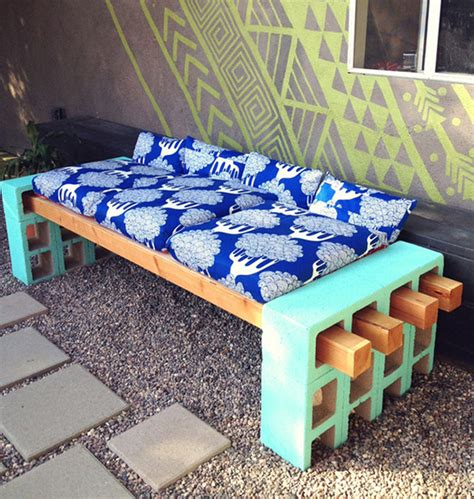 how to make a bench with cinder blocks how to make a stylish outdoor bench from cinder block