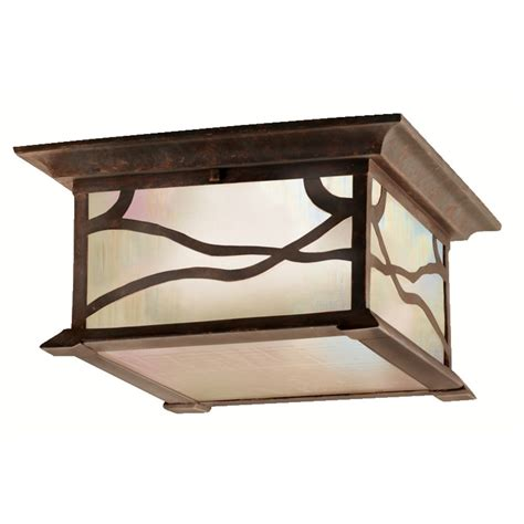 kichler outdoor ceiling kichler distressed copper outdoor ceiling light 9838dco