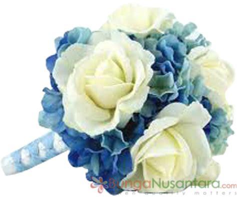 Blue Sapphire 5 Buah classic sapphire wedding bouquet flower