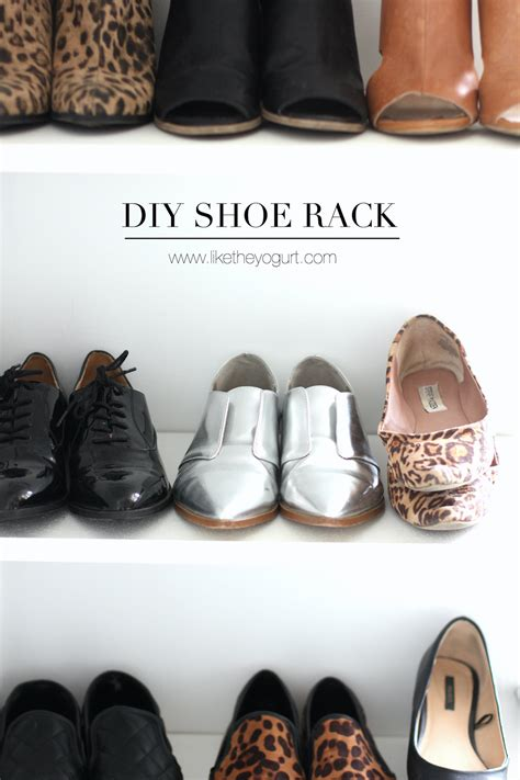 diy shoe holder diy shoe rack like the yogurt