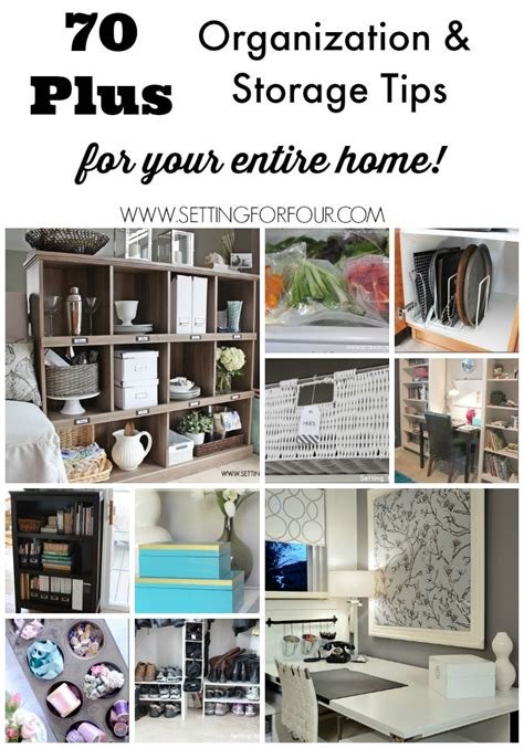 organization tips for home 70 plus organization and storage ideas to declutter your life setting for four
