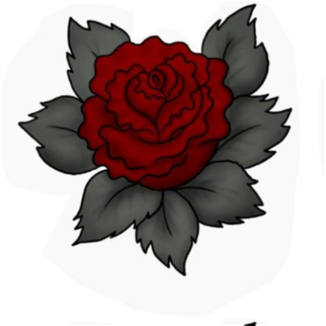 gothic rose tattoo by sims2aholic63 the exchange