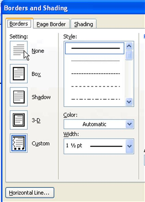 word layout horizontal how to remove the horizontal line from microsoft word 2003