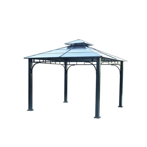 5 X 10 Gazebo Shop Sunjoy Black Steel Square Gazebo Exterior 10 89 Ft