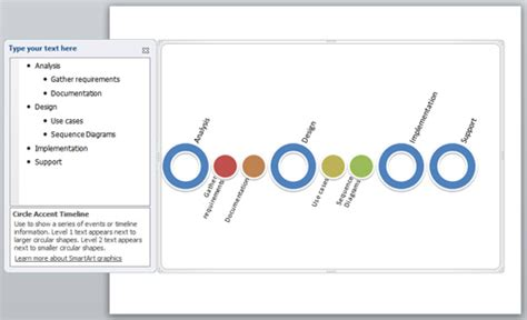 Creating A Timeline In Powerpoint Using Smartart Powerpoint Smartart Timeline Template