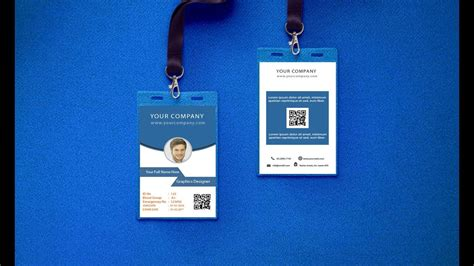 id card design tutorial how to make a modern office id card design in illustrator