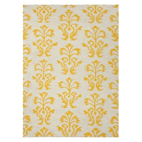 yellow pattern rug yellow rug print pattern pinterest