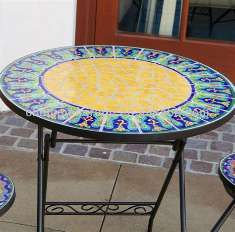 Tile Top Bistro Table Mosaic Table Patterns Mosaic Tile Bistro Table Mosaics Pinterest Mosaic Tiles Bistros And