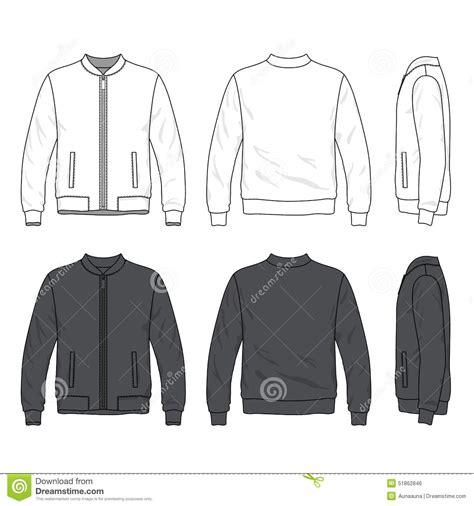 Grosir Jaket Jaket Parka Pocket Navy Line Front Back And Side Views Of Blank Bomber Jacket With
