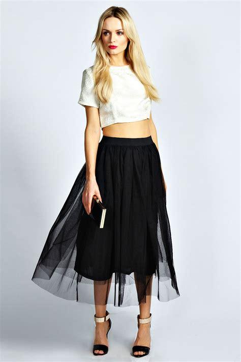 boohoo colette a line midi skirt