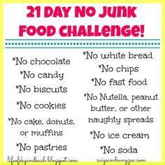 21 Day Junk Food Detox by Junk Food Challenge On No Junk Food
