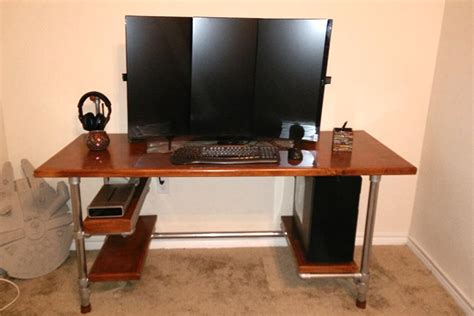 custom gaming computer desk build your own diy computer gaming desk simplified building