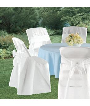 Paper Folding Chair Covers - folding chair cover with sash 4ct white with bow 4