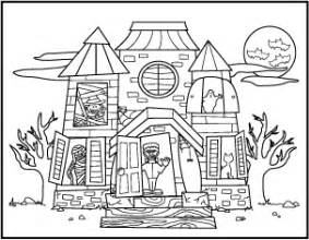haunted house coloring pages getcoloringpages