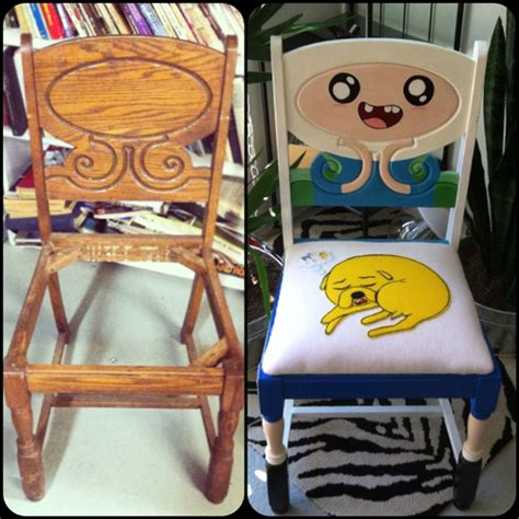 diy geeky decorations giy do it yourself adventure time chair decor
