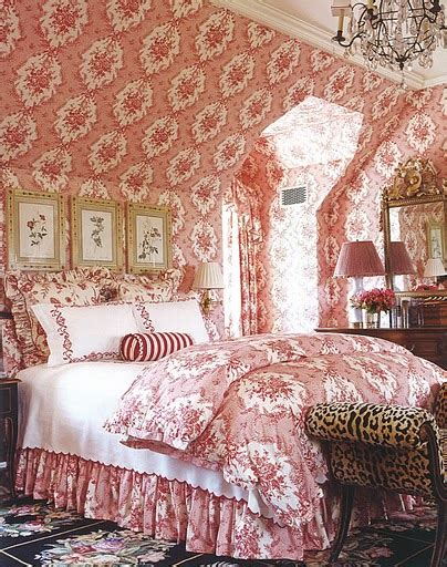 red toile bedroom hydrangea hill cottage decorating with red