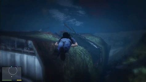 sinking boat gta 5 grand theft auto 5 sunken ship location gameplay youtube