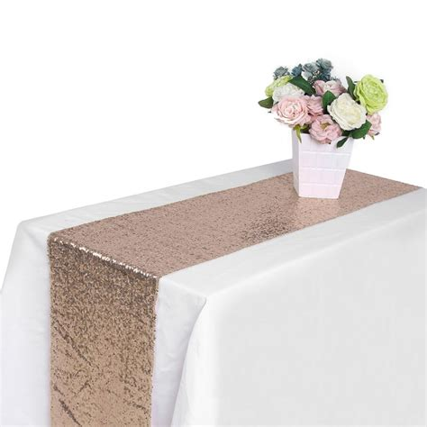 Table Runner 108 by 11 81 Quot X 108 27 Quot Sequin Table Runners Sparkle Glitter