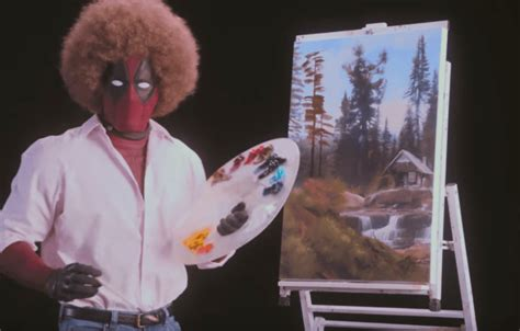 bob ross painting deadpool happy trees the deadpool 2 teaser parodies bob