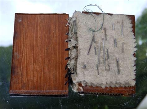 decorative needle case antique sewing accessories a rare tunbridge ware needle