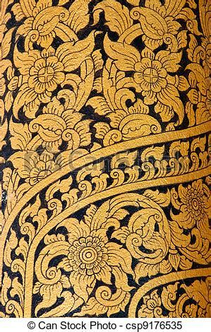 stock images of vintage traditional thai style art