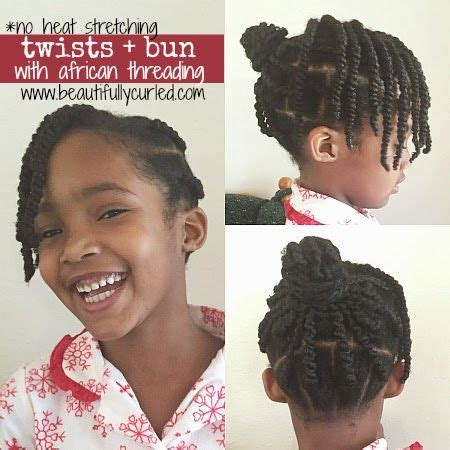 images of side plaited hairstyles for african natural afrohair ghana plaits african threading into a bun with side bang