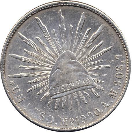 1900 mo am mexico silver un peso unc