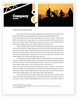 free construction company letterhead templates building industry letterhead template layout for
