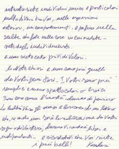 come scrivere a vasco vasco da una lettera manoscritta ai fan