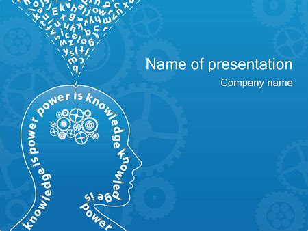 powerpoint templates knowledge free knowledge thinking powerpoint template backgrounds id