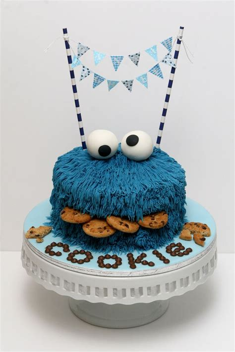 cookie monster party cake sesame street party birth