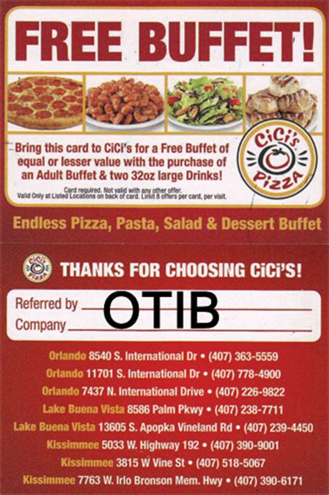 cici s all you can eat pizza free buffet coupon