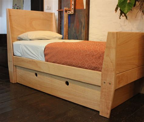child s bed with storage in plywood sydney nathaniel grey
