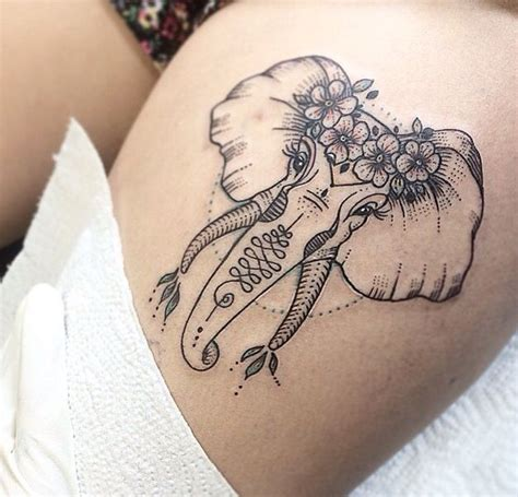 small thigh tattoo pin by m on i n k tattoos elephant tattoos