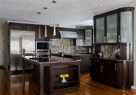 Contemporary Kitchen Cabinets Walnut Contemporary Kitchen Modern Kitchen Cabinetry Boston By Scandia Kitchens Inc