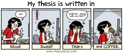 The Day I In My Thesis by Phd Comics Written