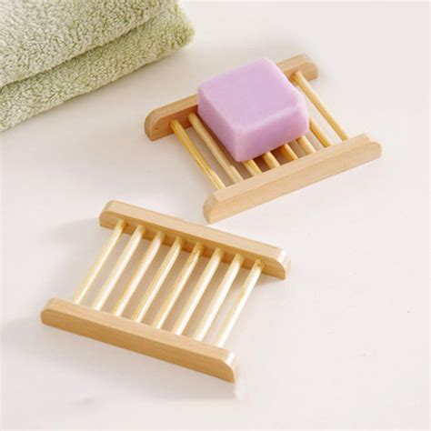 wood soap tray holder dish storage bath shower