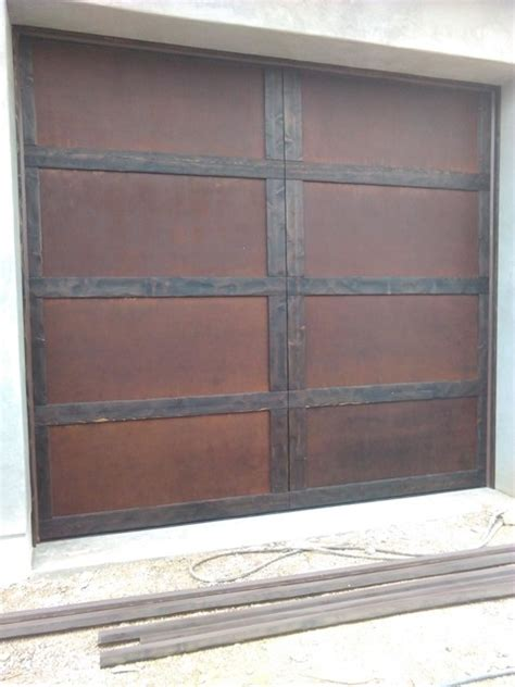 Garage Doors Scottsdale Az Rustic Wood And Metal Garage Doors Scottsdale Az Rustic Exterior By Custom