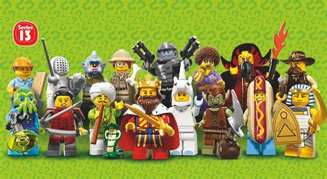 look at the characters from lego minifigures series 13