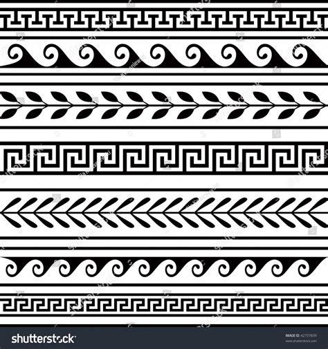 geometric pattern borders set geometric borders stock vector 42737839 shutterstock
