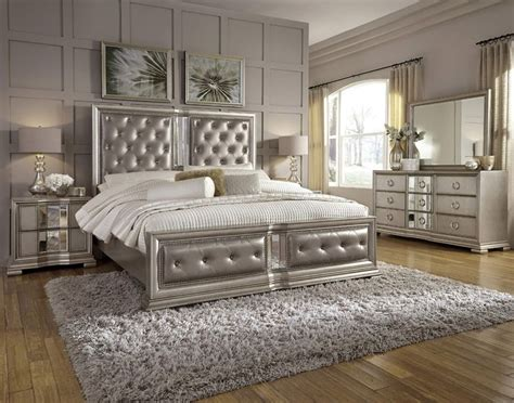 madi panel bedroom set nailhead button tufted silver 189 best tufted headboards beds images on pinterest