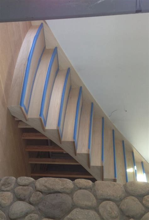 stair tread template b h davis company curved stair treads