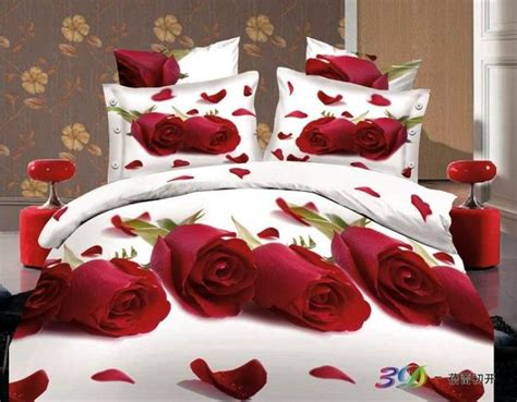red rose comforter set elegant red rose comforter bedding set queen size 4pcs 3d